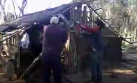 Violento desalojo de una aldea mbya en San Ignacio