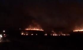 Incendio en varios campos de San Isidro