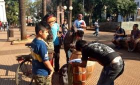 Movilización a favor de las comunidades guaraníes
