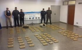 Secuestraron casi 120 kilos de marihuana en Candelaria