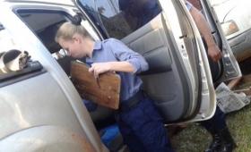 Hallaron droga en una camioneta secuestrada