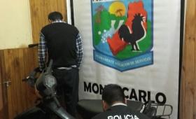 Detenido por una moto robada en Montecarlo