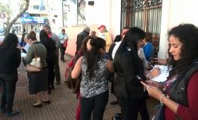 Autoconvocados contra las exhumaciones protestaron ante el HCD