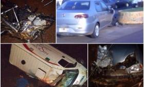 Tránsito: diez personas murieron entre viernes y lunes