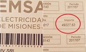 Insólito: le llegó la boleta de luz por 50 mil pesos