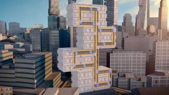El elevador que se podrá mover de forma horizontal