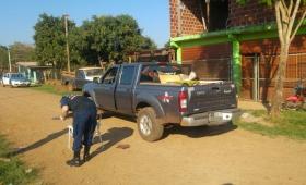 Descontrolado y armado a bordo de una camioneta