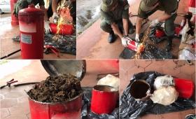 Secuestraron marihuana oculta dentro de tres matafuegos