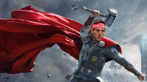 """Del Potro recibió un mensaje especial del actor de """"Thor"""""""