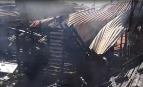 Incendio en una casa de Chacra 145