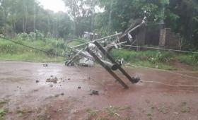 Cayeron 75 postes de energía en el norte de Misiones