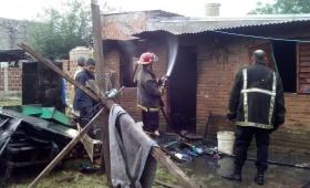 Se quemó una casa en Miguel Lanus
