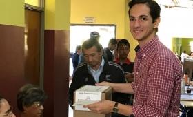 Gastón Caballero votó y destacó el rol de los jóvenes