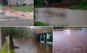 Hay muchas zonas anegadas y la lluvia no cesa en Posadas