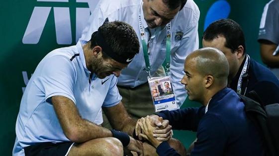 Del Potro puso en duda su presencia ante Federer