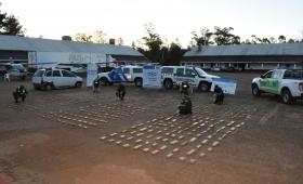 Secuestraron 103 kilos de marihuana en Corrientes
