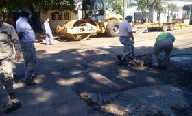 Vuelven a reparar la avenida Santa Catalina