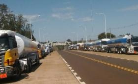 Camioneros bloqueó el ingreso de combustible a Misiones