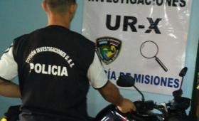 Recuperaron moto robada, pero el ladrón escapó