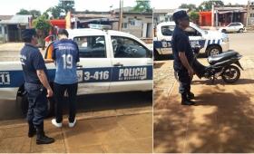 Operativo: detuvieron a un arrebatador y secuestraron una motocicleta