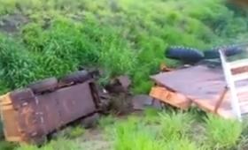 Despistó un tractor municipal en Garupá