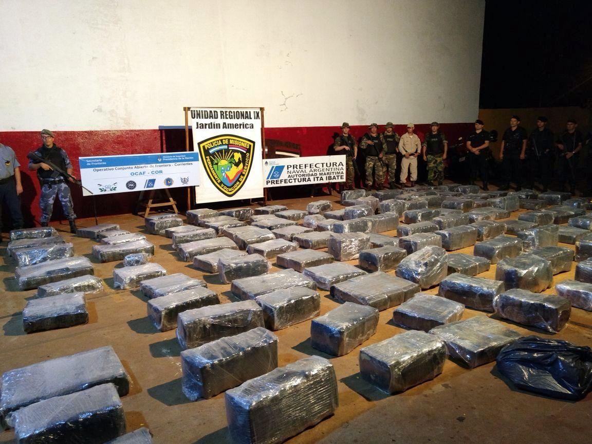 Operativo Nochebuena: incautaron 3 toneladas de marihuana en Misiones