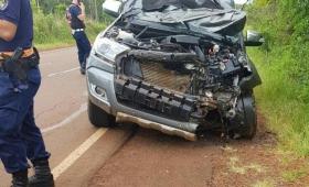 Dos muertos en choque frontal sobre ruta 5