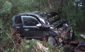 San Pedro: conductor ebrio despisto y volcó