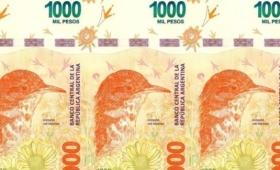 Entra en circulación el nuevo billete de 1000 pesos