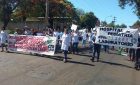 Marcha Blanca contra la precarización en Salud