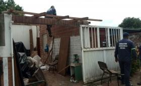 La tormenta voló techos en Itaembé Miní