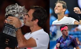 Federer acecha a Nadal y Del Potro sigue escalando