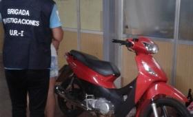 Secuestraron una moto robada y detuvieron a su conductor