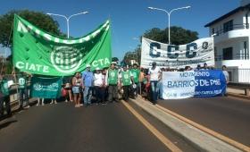 Puente San Roque: protesta de la CCC y Barrios de Pie