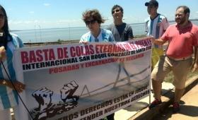 Protesta por la agilización del paso en el puente San Roque