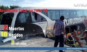 Micro con niños de Iguazú se accidentó en Entre Ríos