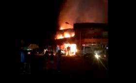 Incendio en un supermercado Chino