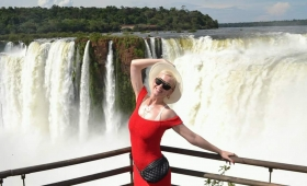 Katy Perry visitó las Cataratas del Iguazú