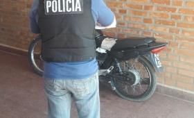 En zona Oeste recuperaron una moto robada