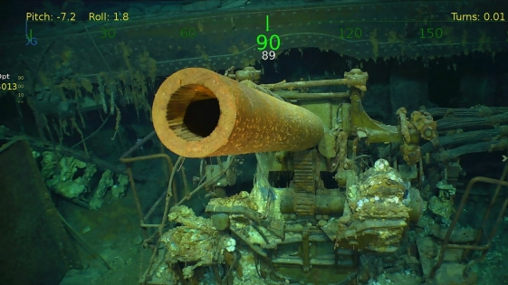 Encontraron restos de un portaaviones hundido en la Segunda Guerra Mundial
