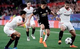 Sevilla eliminó de la Champions a Manchester United