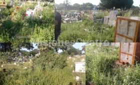Denuncian abandono en el Cementerio La Piedad