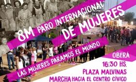 Oberá: en el Día de la Mujer habrá marcha hacia el Centro Cívico