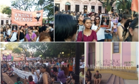 8M: multitudinaria marcha de mujeres en Posadas