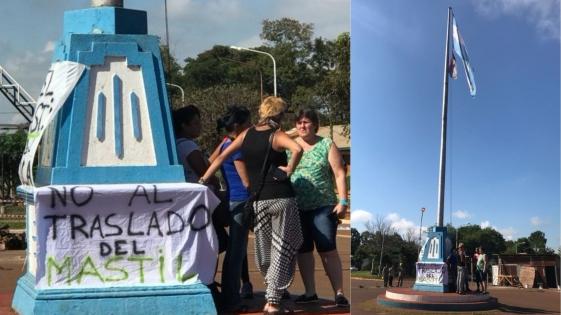 Protestan contra el traslado del Mástil de Candelaria