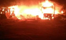 Impactante incendio en Eldorado