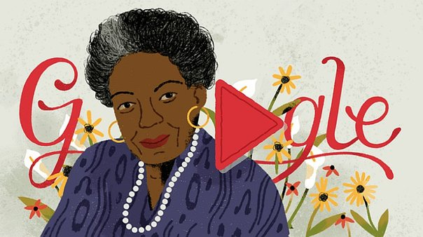 Google honra a Maya Angelou con un doodle por sus 90 cumpleaños