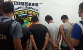 Cuatro detenidos por robo e intento de homicidio