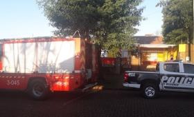 Incendio en una casa de barrio Santa Helena