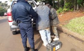 Detenidos con una batería robada
